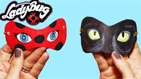 como fazer mascara da miraculous ladybug   cat noir