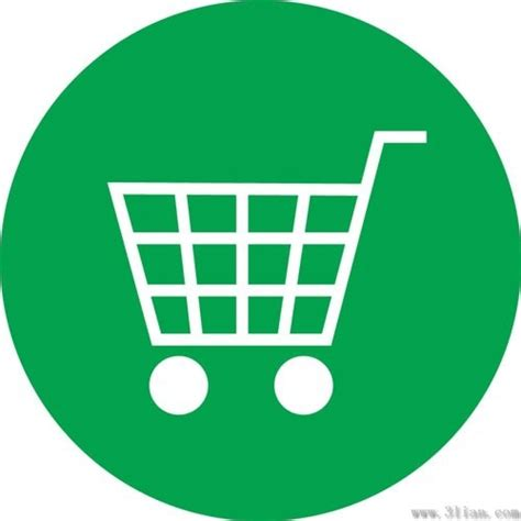 Flat Decoration by Green Shopping Cart Icon Vector Free Vector In Adobe