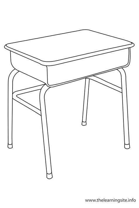 color desk desk coloring pages
