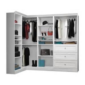 Closet Organizers Walmart Canada by Bestar 40854 Versatile By Bestar 90 In Corner Closet Kit