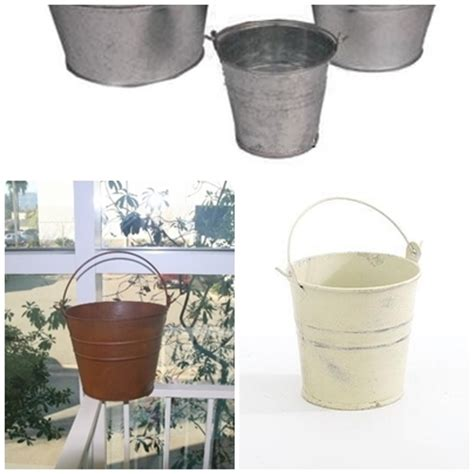 tin buckets for centerpieces tiny tin flower metal florist containers small