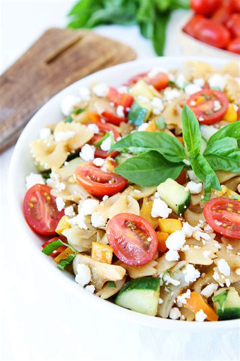 easy pasta salad recipes easy summer pasta salad recipe two peas their pod
