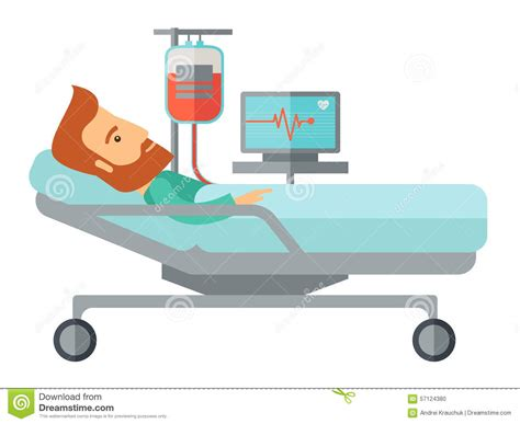 nel letto paziente nel letto di ospedale che 232 controllato
