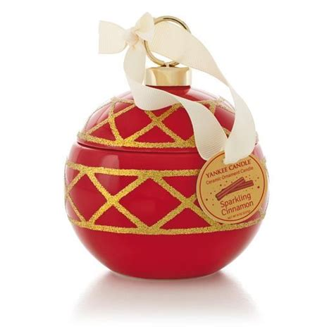 sparkling cinnamon ceramic ornament yankee candle 174 gift