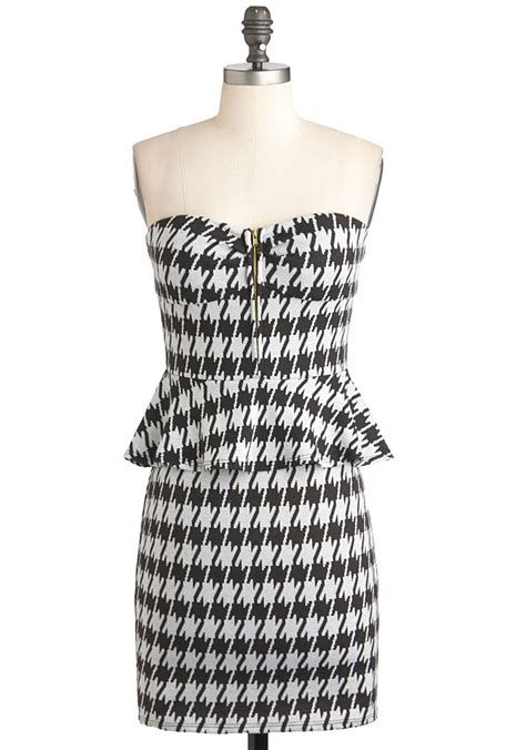 houndstooth pattern clothes brainy mademoiselle houndstooth dress