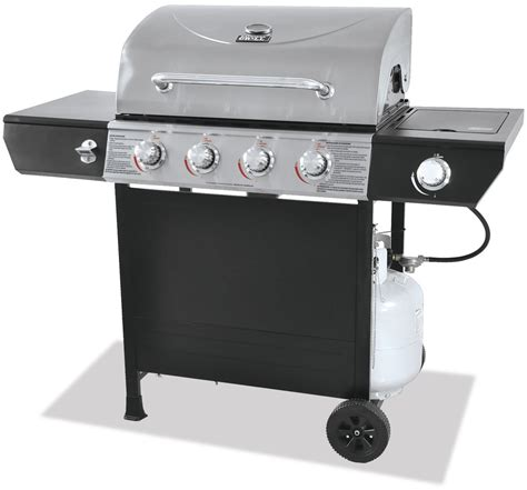 backyard grill 4 burner gas grill with side burner