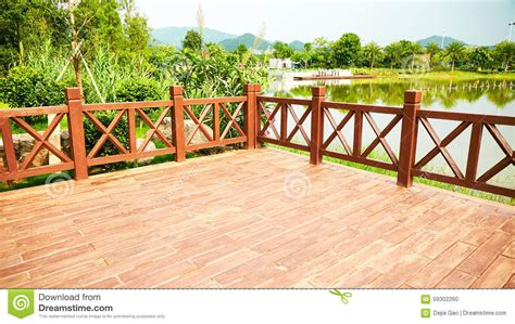 Banister And Baluster Wood Deck Wooden Patio Outdoor Stock Photo Image Of Deck