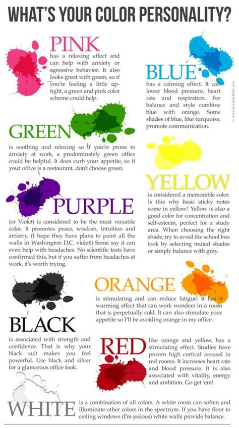 favorite color personality color personalities what s your favorite color by