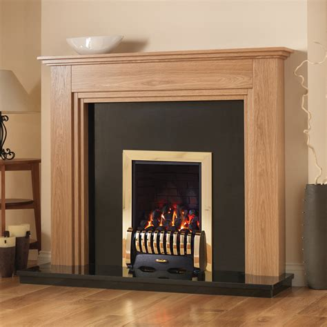 Finish Fireplace by Pureglow Whitton Oak Finish Fireplace Suite Fireplaces