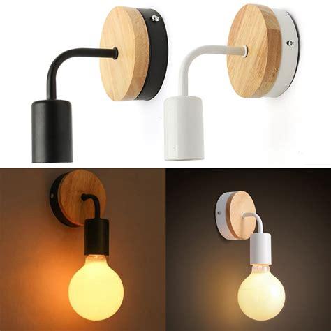 modern e26 e27 wood ceiling light fixtures for bedroom modern white black e27 wall lighting fixture sconce holder