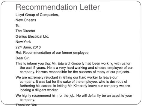 Reference Letter For Departing Employee Writing Letters By Ganta Kishore Kumar