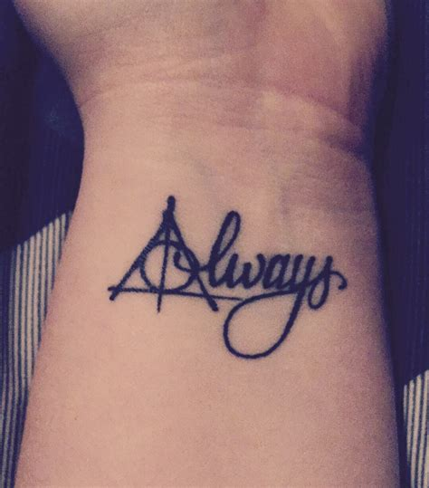 harry potter tattoo deathly hallows always tattoos
