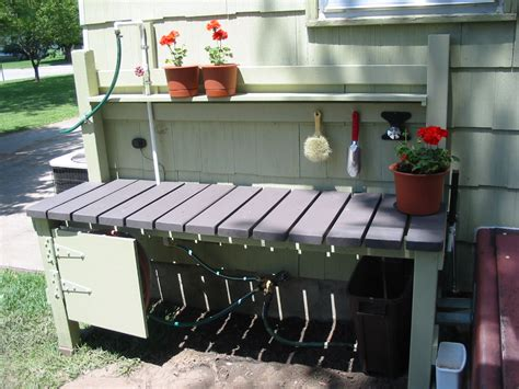 outdoor potting bench with sink outdoor potting bench sink plans outdoor decorations