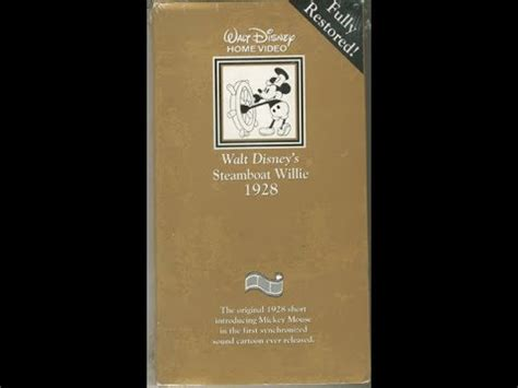 steamboat video opening to steamboat willie 1992 vhs youtube