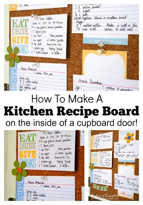 How To Make A Kitchen Recipe Board Echoes Of Laughter | how to make a kitchen recipe board echoes of laughter
