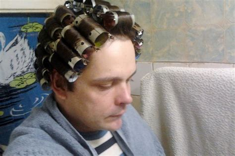 men with red fingernails and curlers in hair 101 curated perms ideas by lynne8305 mothers home perm