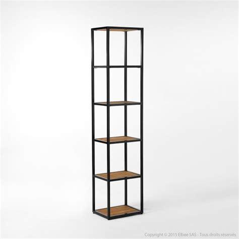 Etagère en métal et bois 4 niveaux Hauteur 180cm CLAYTON