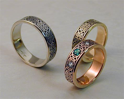 Celtic Wedding Bands by Celtic Wedding Band Set Metamorphosis Jewelry