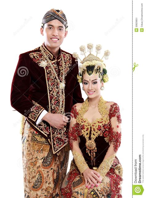 Wedding Dress Adat Jawa by Traditional Java Wedding Stock Image Image 30829851
