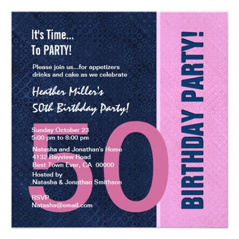 50th birthday colors 50th birthday modern color pattern and silver personalized