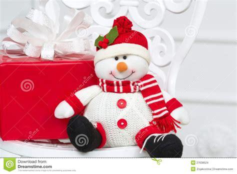 smiling decorative snowman stock images image 27638524