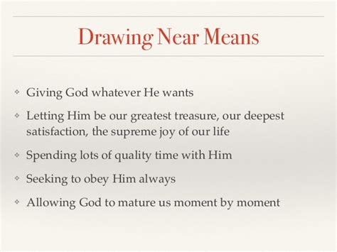 Drawing Near by Drawing Near To God The Path To Spiritual Maturity