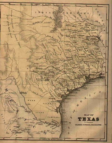 1800 texas map texas map in 1800