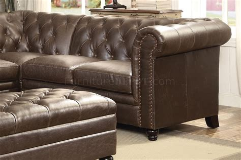 coaster leather sofa reviews roy sectional sofa 500268 brown bonded leather match by