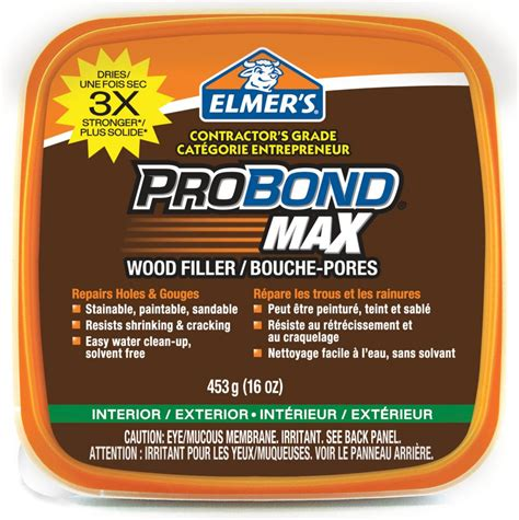 probond stainable probond max wood filler 453gr tub the