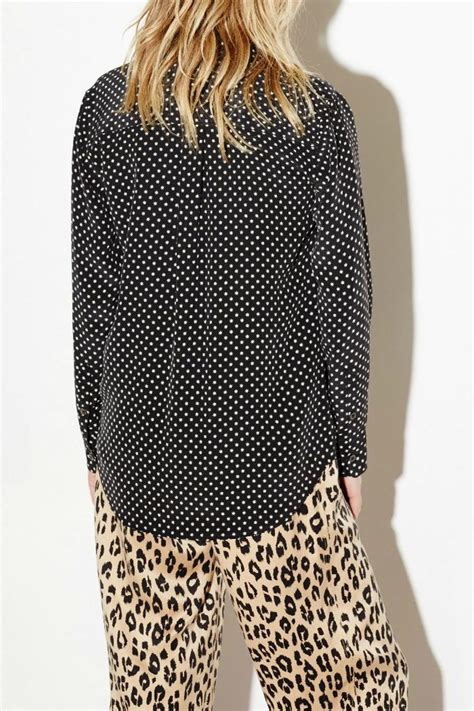 Blouse Import 0522 Signature V S M L Blouse equipment slim signature blouse from canada by era style loft shoptiques