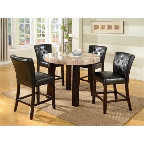 Marble Counter Height Dining Table 5 Pc Contemprory Faux Marble Counter Height Dining Set Contemporary And Cool The Dining