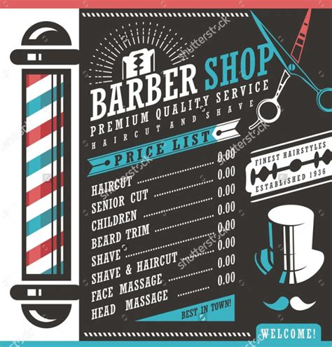 27 Barbershop Flyer Templates Free Premium Download Price List Flyer Template