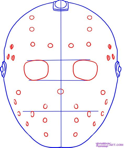 jason mask template how to draw jasons mask step by step pop culture