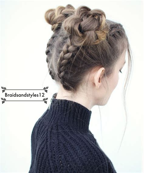 hairstyles space buns 25 best ideas about pigtail hairstyles on pinterest