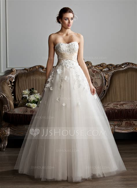 hochzeitskleid jjshouse ball gown sweetheart floor length tulle wedding dress with