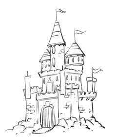 castle of disney world line drawing tattoo inspiration draw castle white line drawing of a path leading to