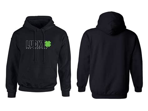 Sweater Zipper U Backfront Logo lucky youth outline logo hoodie lucky scooters