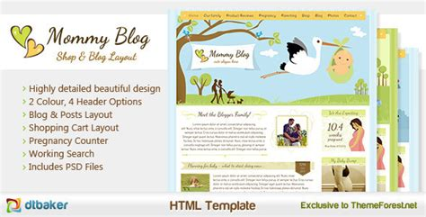 magazine layout blog mommy blog html including shop blog layout by dtbaker