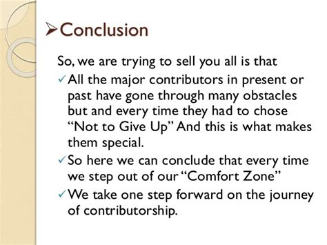 Step Out Of Comfort Zone Essay by Ppt Of Cpd Embarking The Journey Of Contributorship
