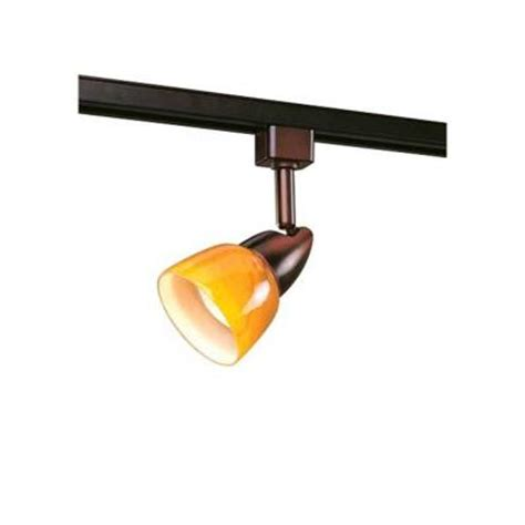 Home Depot Lighting Fixtures Hton Bay 1 Light Rubbed Bronze Linear Track Lighting Fixture Ec2280obra The Home Depot