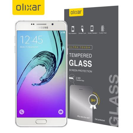 Tempered Glass For Samsung A7 olixar samsung galaxy a7 2016 tempered glass screen protector