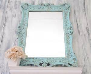shell motif cottage mirror home decor wall