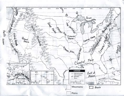 blank physical map of usa and canada gms 6th grade social studies us physical map