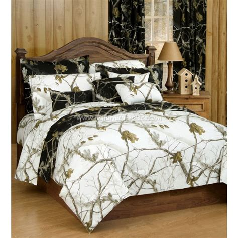 Camo Comforter by Ap Black Snow Bedding Decor By Realtree Rustic