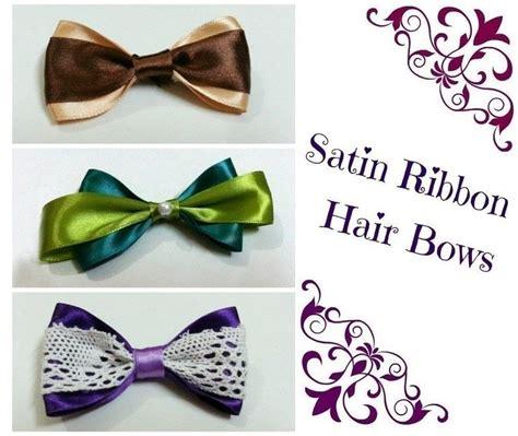 Diy Fashion Projects Diy Hair Bows 2 Ribbons 183 How To Make A Ribbon Hair Bow