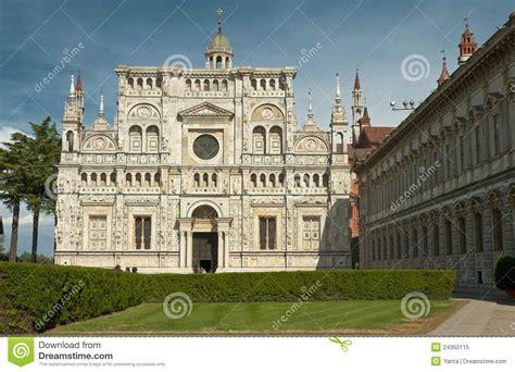 monastero pavia monastero famoso di pavia italia fotografia stock libera