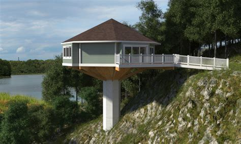 vacation house plans octagon octagon house on pedestal pedestal octagon house piling
