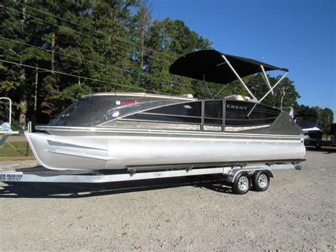 crest pontoons for sale used crest pontoon boats for sale boats