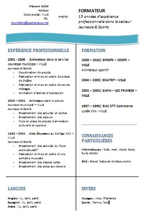 Exemple De Lettre De Motivation Formateur Exemple De Cv Formateur Exemples De Cv