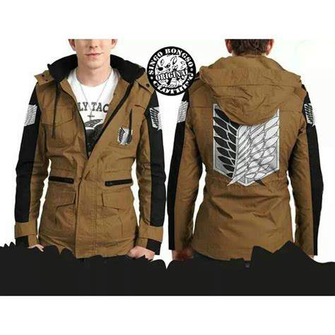 Jaket Attack On Snk Canvas Jacket Ja Snk 28 jacket snk army brown order bbm pin singo id line singobongso wa 0857 4161 3939 price